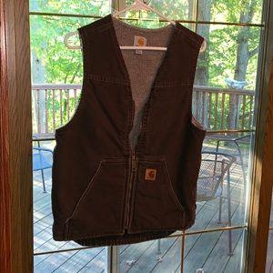 Brown carhartt vest